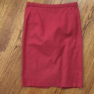 J. Crew, Size 4, red pencil skirt